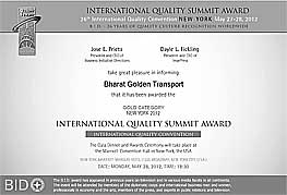 International Quality Summit Award